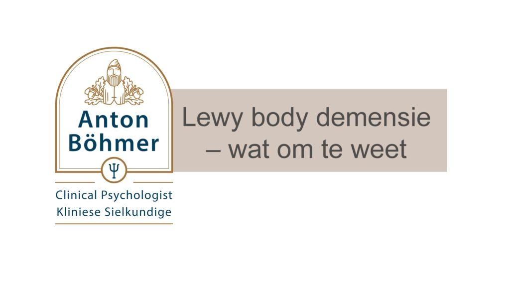 Lewy body demensie – wat om te weet